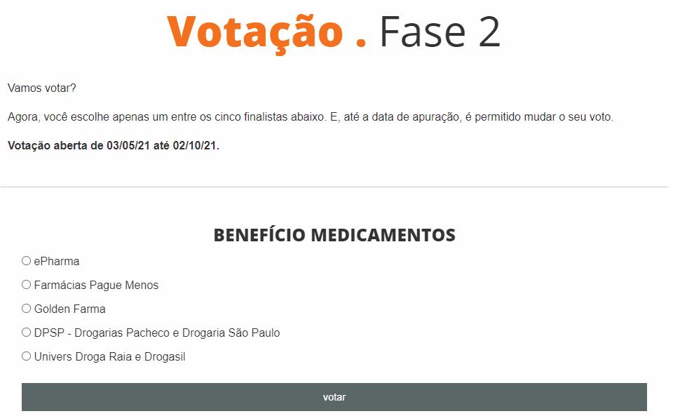 votação fase 2
